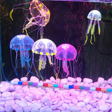 5 CM Artificial Silicone Vivid Jellyfish For Fish Aquarium Decoration